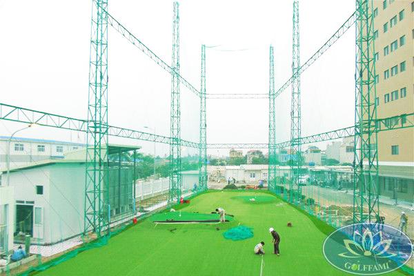 Golffami thi công sân tập golf thuộc dự án khu chung cư cho thuê Nhật Bản Famille Hà Nam