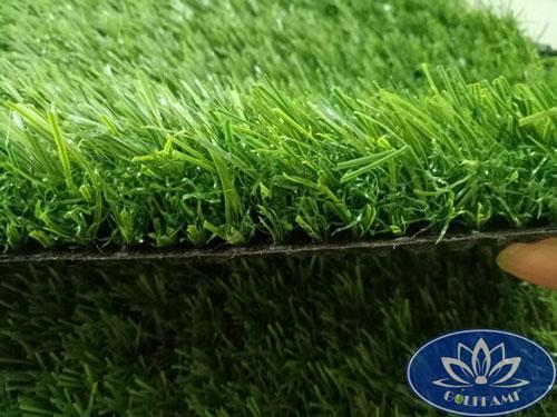 Mặt cắt ngang cỏ nhân tạo sân vườn CNT12