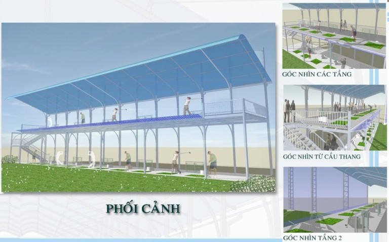 Mô hình phối cảnh theo thiết kế thi công sân tập golf