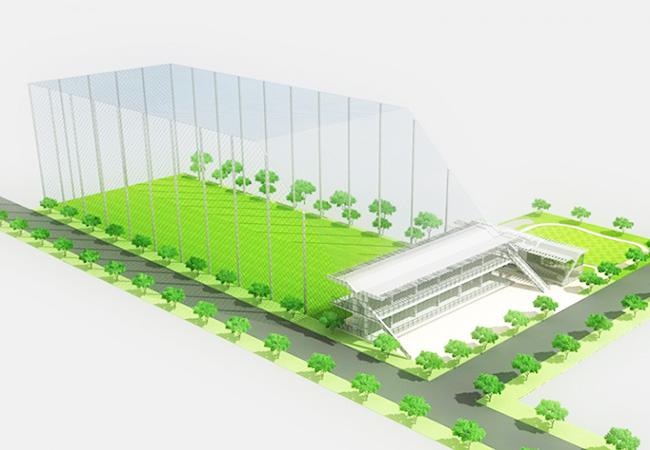 Mô hình thiết kế thi công sân tập golf