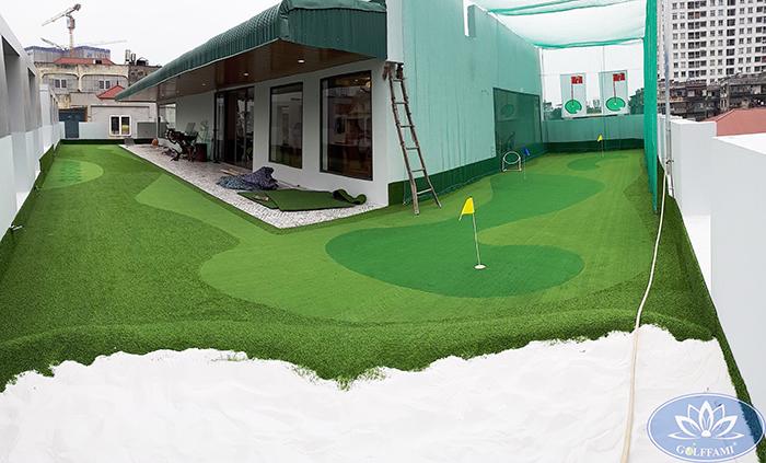 sân tập golf mini sân thượng