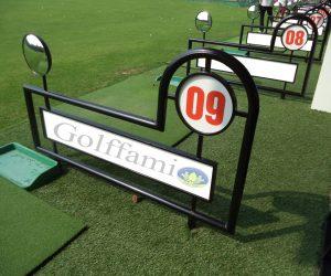 Vách ngân sân tập golf inox có gương