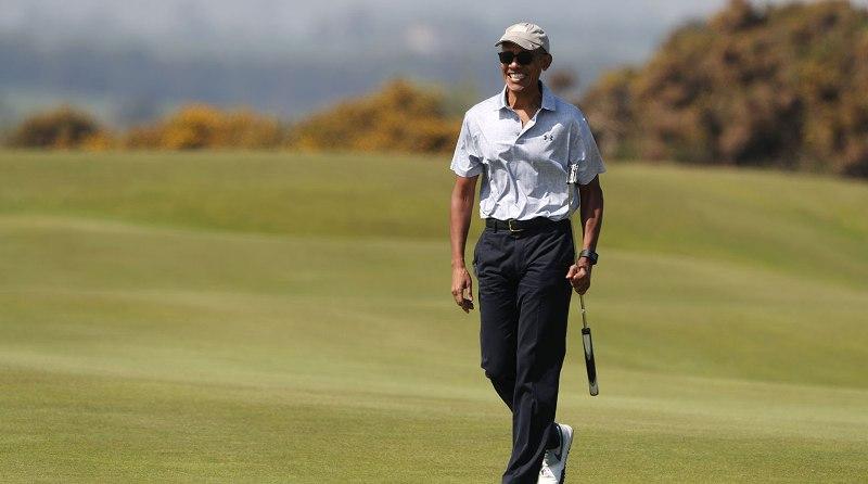 Cựu tổng thống Obama thi đấu trên sân golf St Andrews