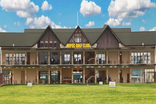 Tòa nhà chính sân tập Golf Mipec