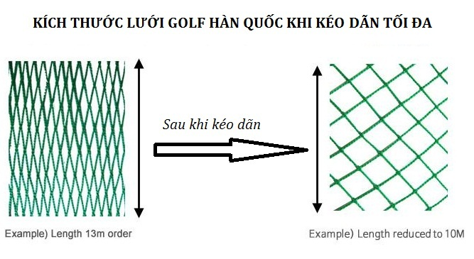 Lưới golf Hàn Quốc màu xanh ngọc