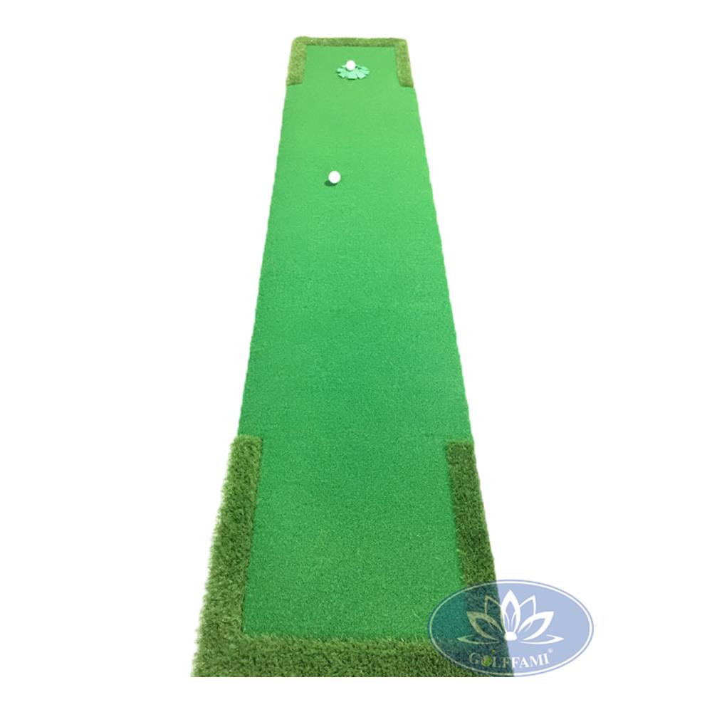 Thảm tập golf Putting được thiết kế với phần cỏ golf mềm mại.