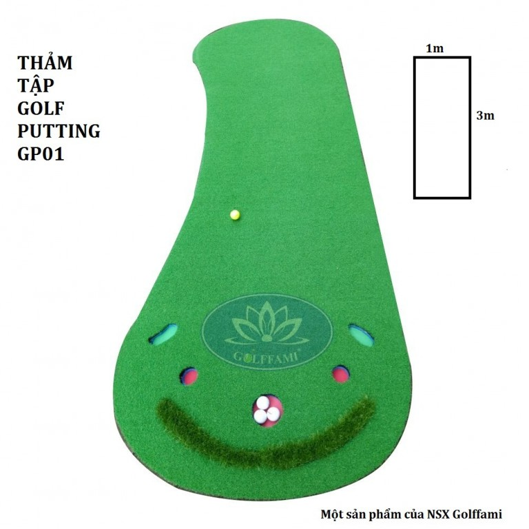 Thảm tập golf Putting GP01 - Golffami