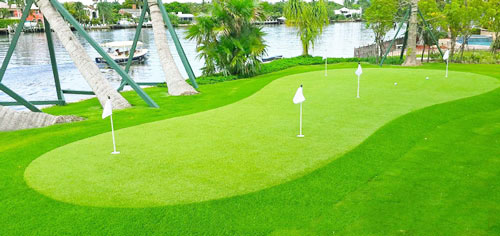 Thi công cỏ sân golf ngoài trời