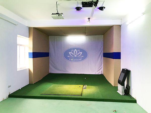 1 phòng golf 3D do Golffami thi công lắp đặt cho trường Đại Học Thể Dục Thể Thao Bắc Ninh