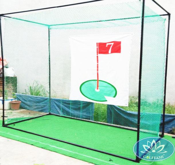 Bộ khung và lưới tập swing mới của Golffami