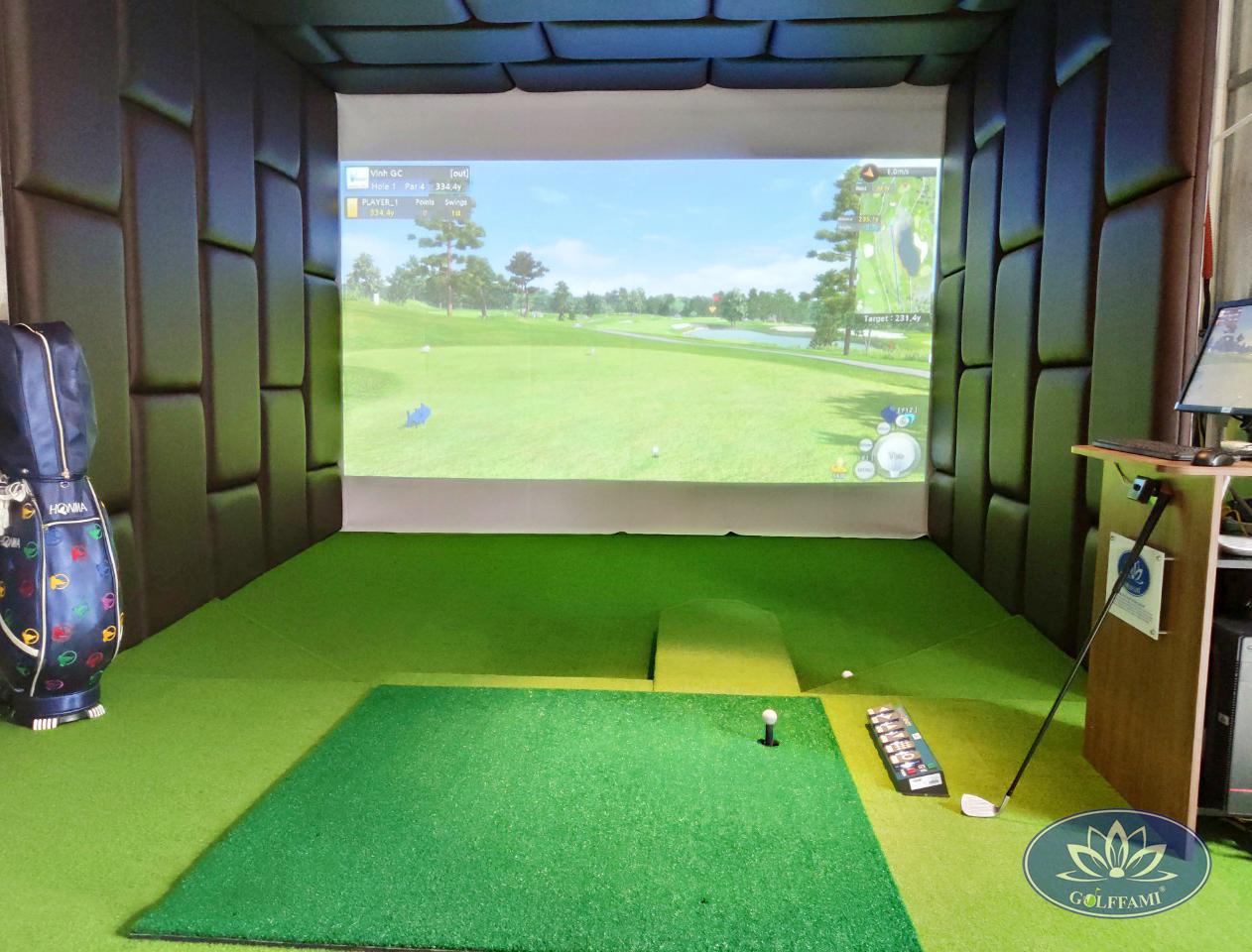 Phòng golf 3d hoàn thiện