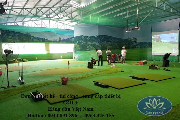 Lắp đặt phòng tập golf 3D - Golffami