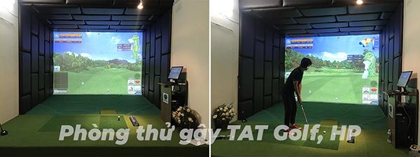 phòng golf 3d thử gạy golf TAT Golf