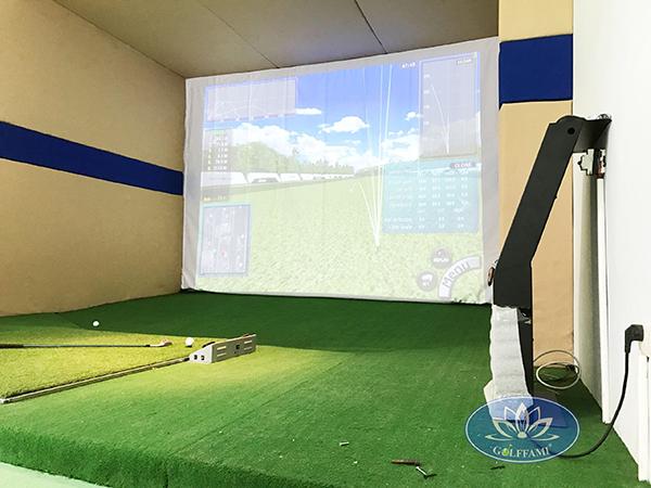 Lắp đặt phòng golf 3D chỉ cần một diện tích nhỏ chỉ khoảng: 4m x 3m x 3m (dài x rộng x cao)