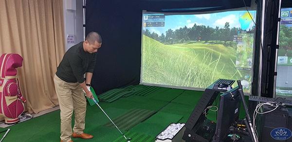 Phòng tập golf 3d phòng khách