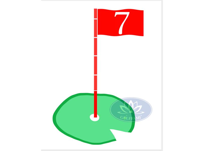 Tâm phát bóng golf kiểu hàn Quốc