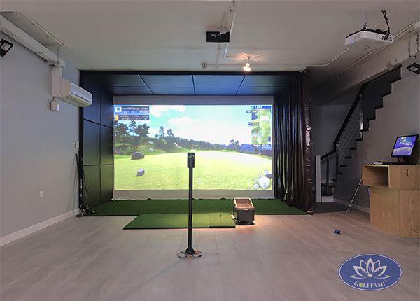 Thi công lắp đặt hệ thống phòng tập Golf 3D