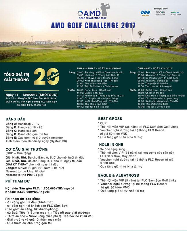 Thông tin về giải golf AMD Golf Challenge 2017