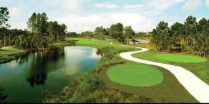 Cảnh đẹp của sân golf nhân sư
