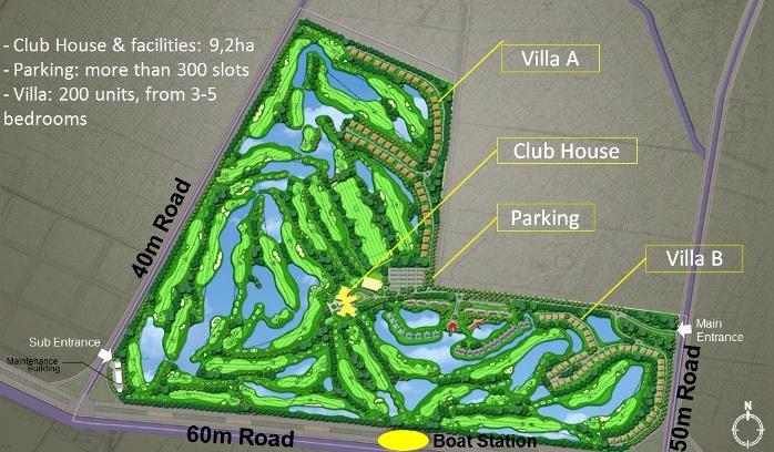 Sơ đồ quy hoạch tổng thể sân golf