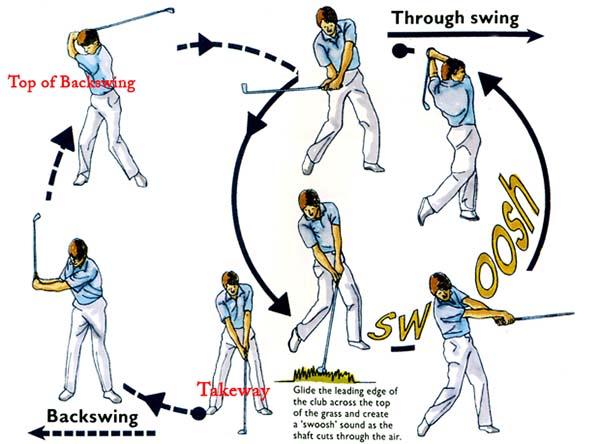 kỹ thuật chơi đánh golf cơ bản-cú đánh swing- người mới chơi