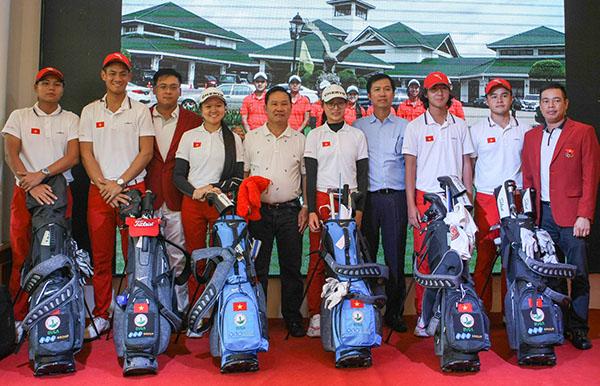 Thành viên Đội tuyển golf Việt Nam tại SEA Games 29