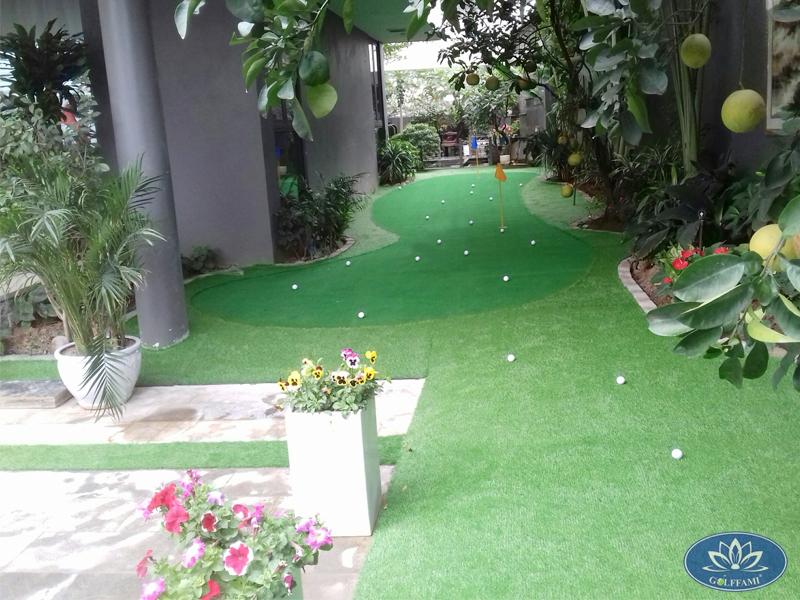 Thi công mini golf trong vườn