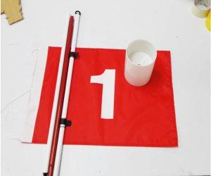 Lỗ golf nhựa và cờ golf