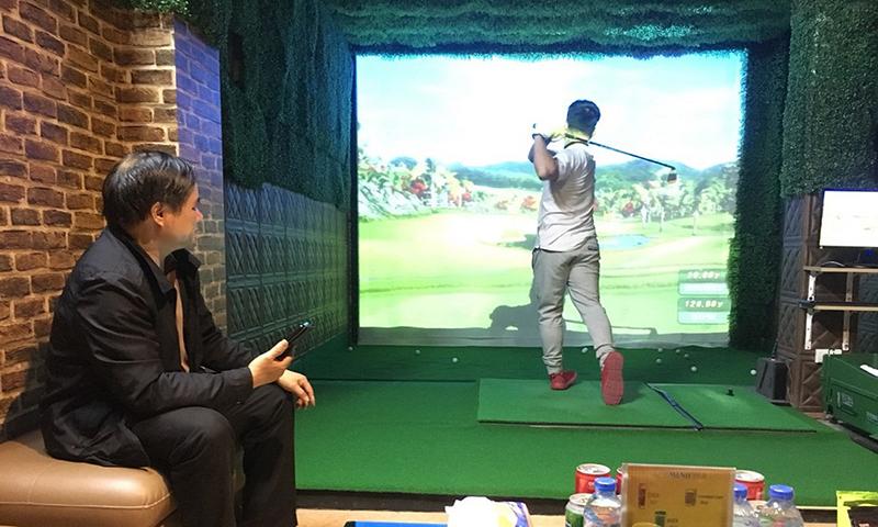 phòng golf mini 3d trong nhà