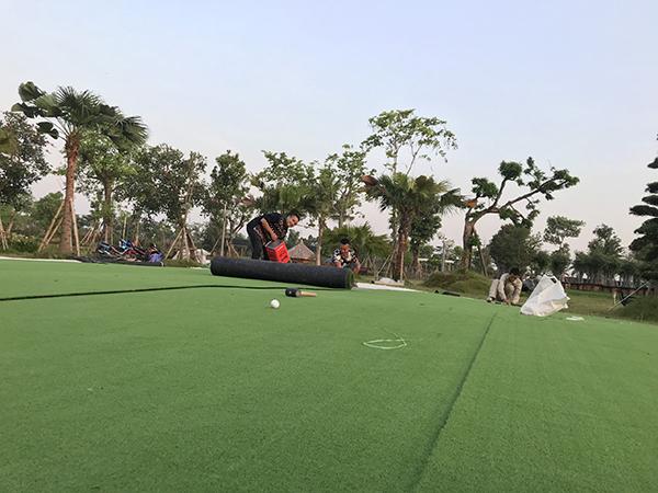 thi công sân tập golf mini