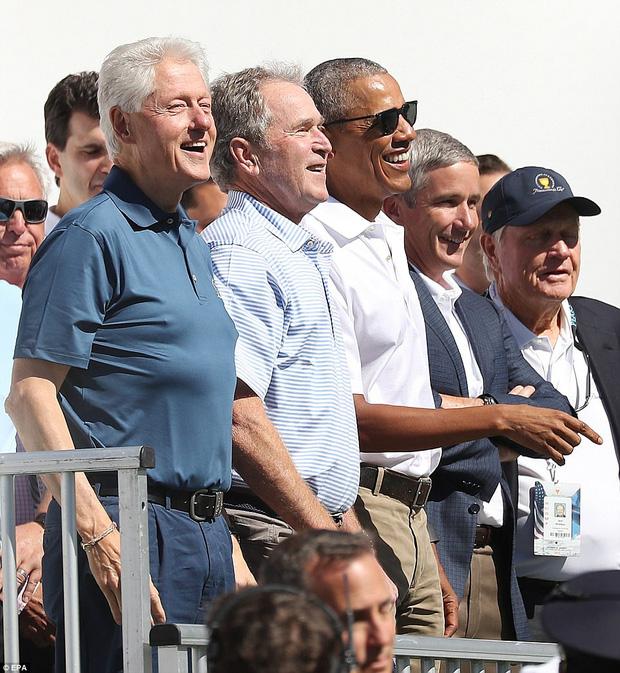 3 cựu tổng thống tươi cươi rạng rỡ tại Presidents cup