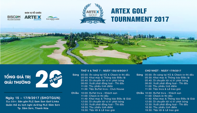 Chi tiết giải Artex Golf Tournament 2017.