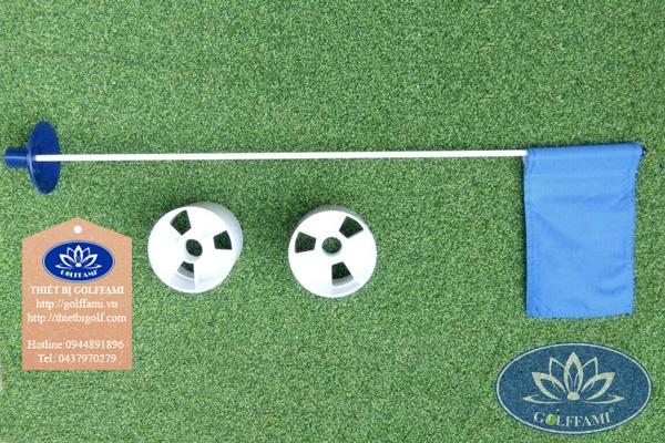Bộ lỗ và cờ golf nhựa trong nhà