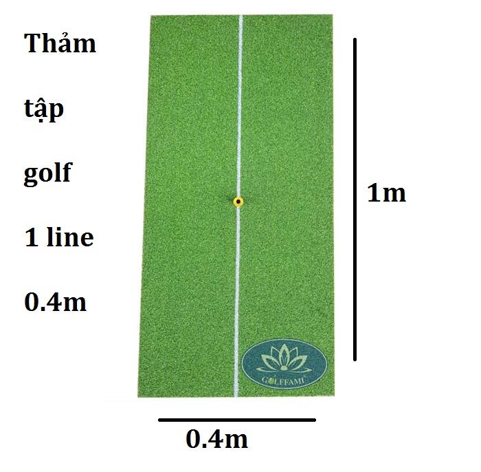 Thảm golf 1 line 0.4m x 1m - Golffami