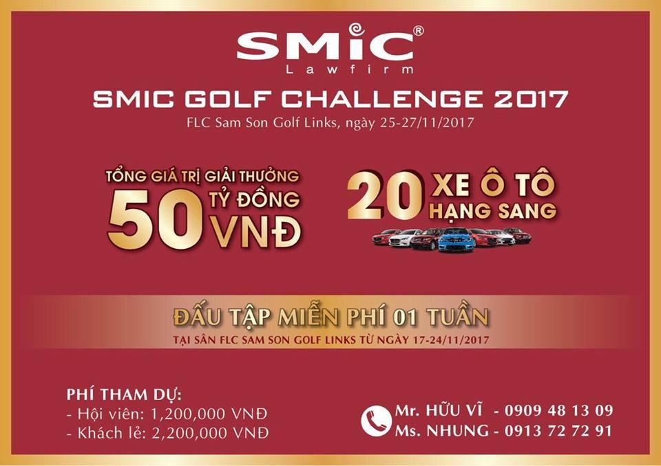 Thông tin về giải golf SMIC Golf Challenge Tournament 2017