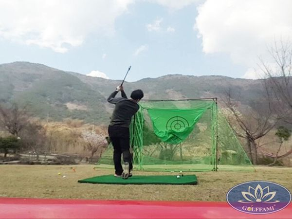Tập swing thoải mái với bộ khung tập golf swing Hàn Quốc