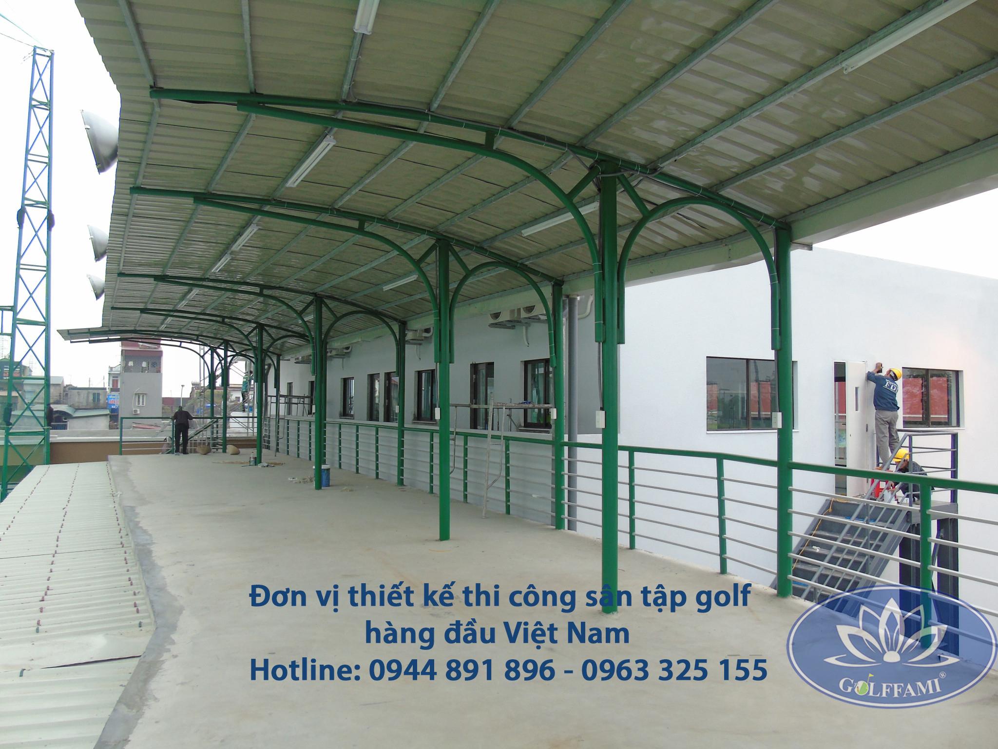 nhà phát banh của sân tập golf Famille Hà Nam