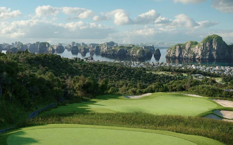 1 góc thơ mộng tại sân golf FLC Hạ Long Golf Club