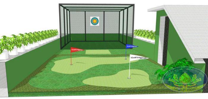 Mô hình mini golf sân thượng