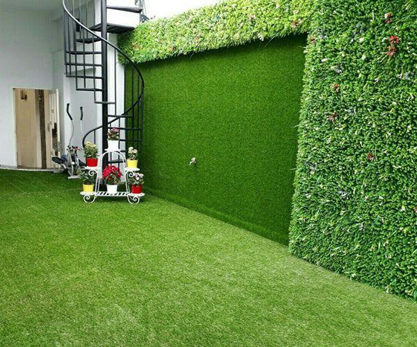 Cách dán cỏ nhân tạo lên tường