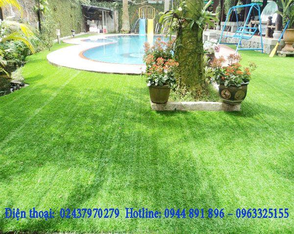 Giá cỏ nhân tạo sân vườn rẻ