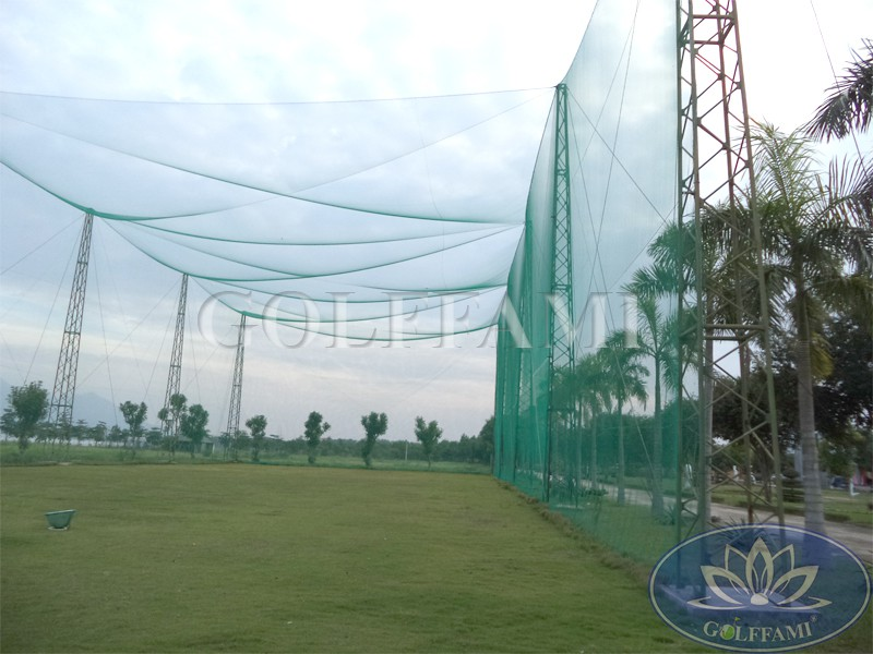 Thi công lưới golf tại sân tập golf Đảo Ngọc xanh