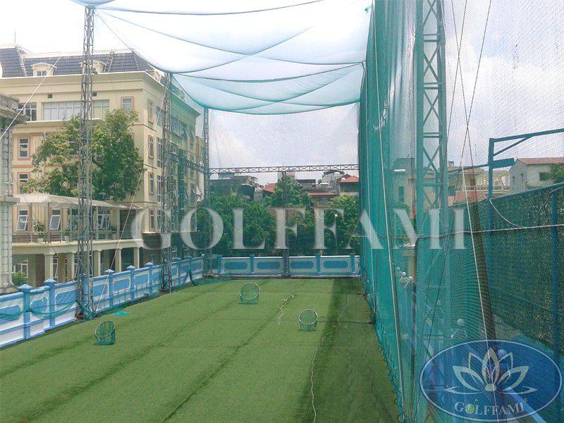 Golffami cung cấp và thi công lưới golf sân tập golf