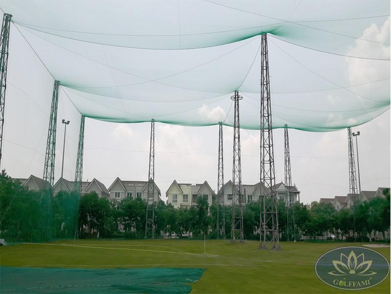 Thi công lưới sân tập golf tại Vinhome Riverside