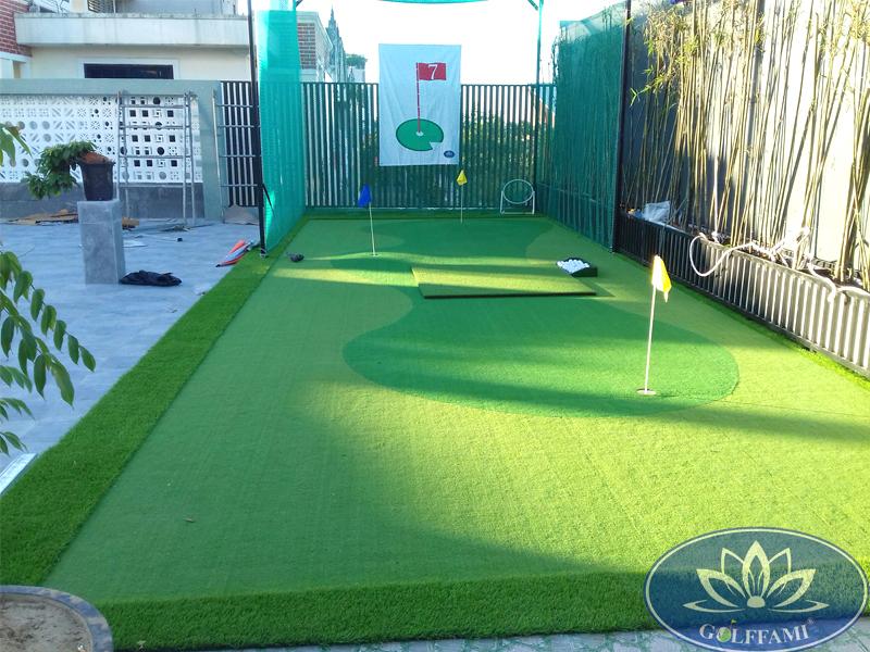 Thi công sân tập golf mini trên sân thượng tại Huế