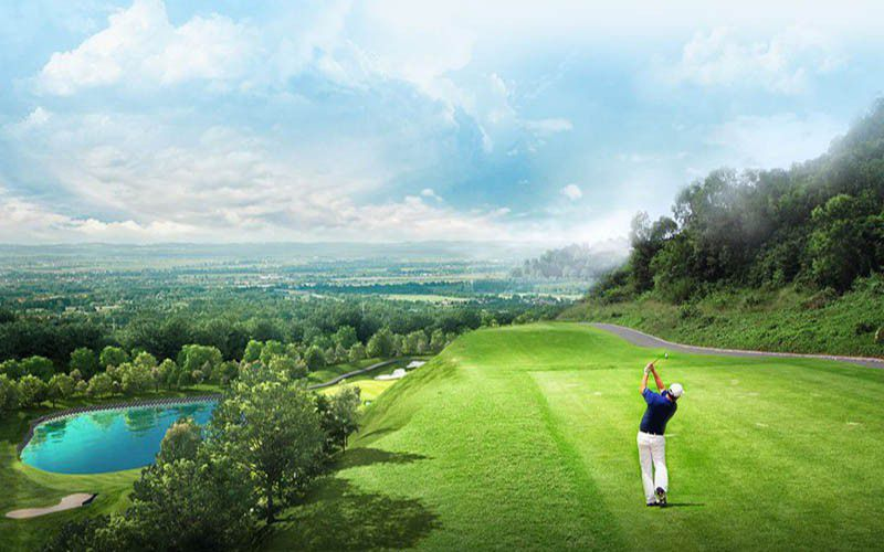 Thi công sân golf Bắc Giang