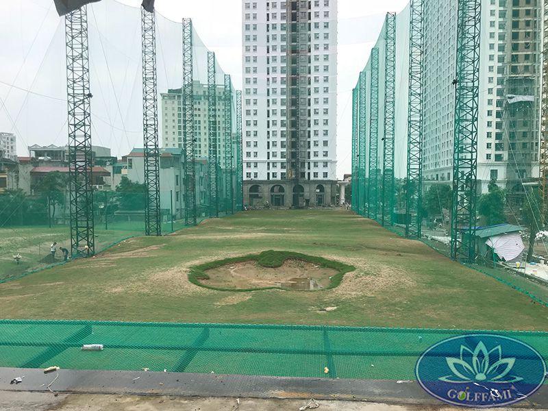 Thi công lưới sân tập golf