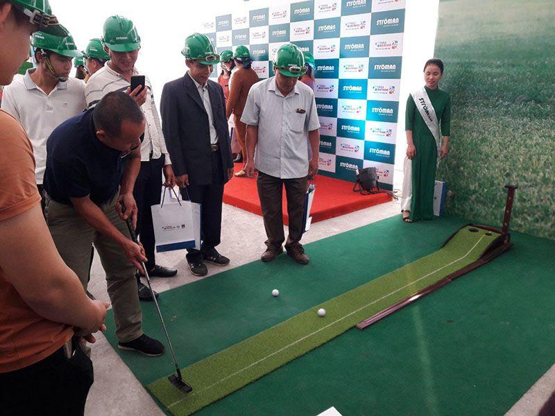 Trải nghiệm chơi golf khai trương sản phẩm mới của nhãn hàng stroman