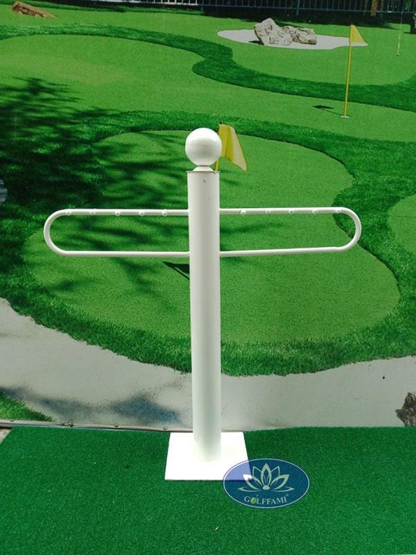 Giá để gậy golf màu trắng Gomiga4