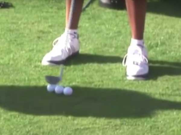 Bí quyết chọn vị trí đặt bóng của Tiger Woods